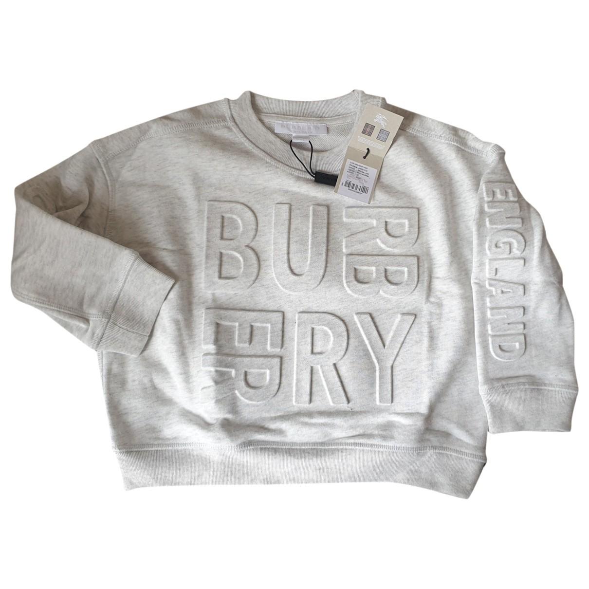 Burberry - Pull   pour enfant - gris