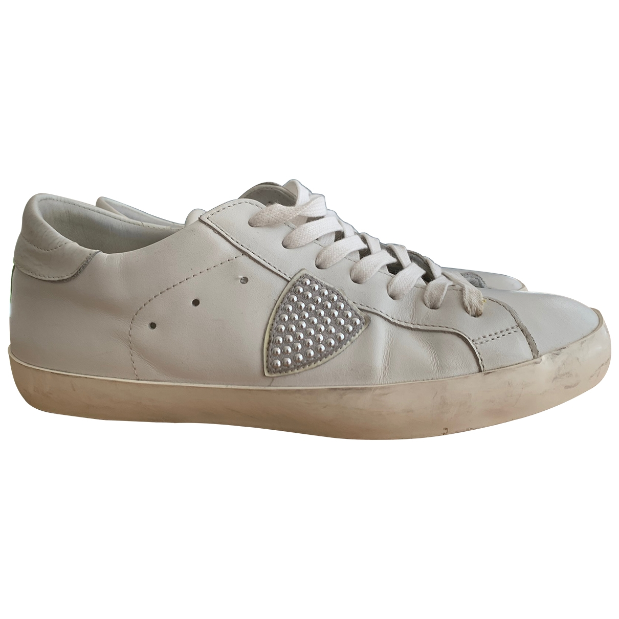 Philippe Model \N White Leather Trainers for Men 41 IT