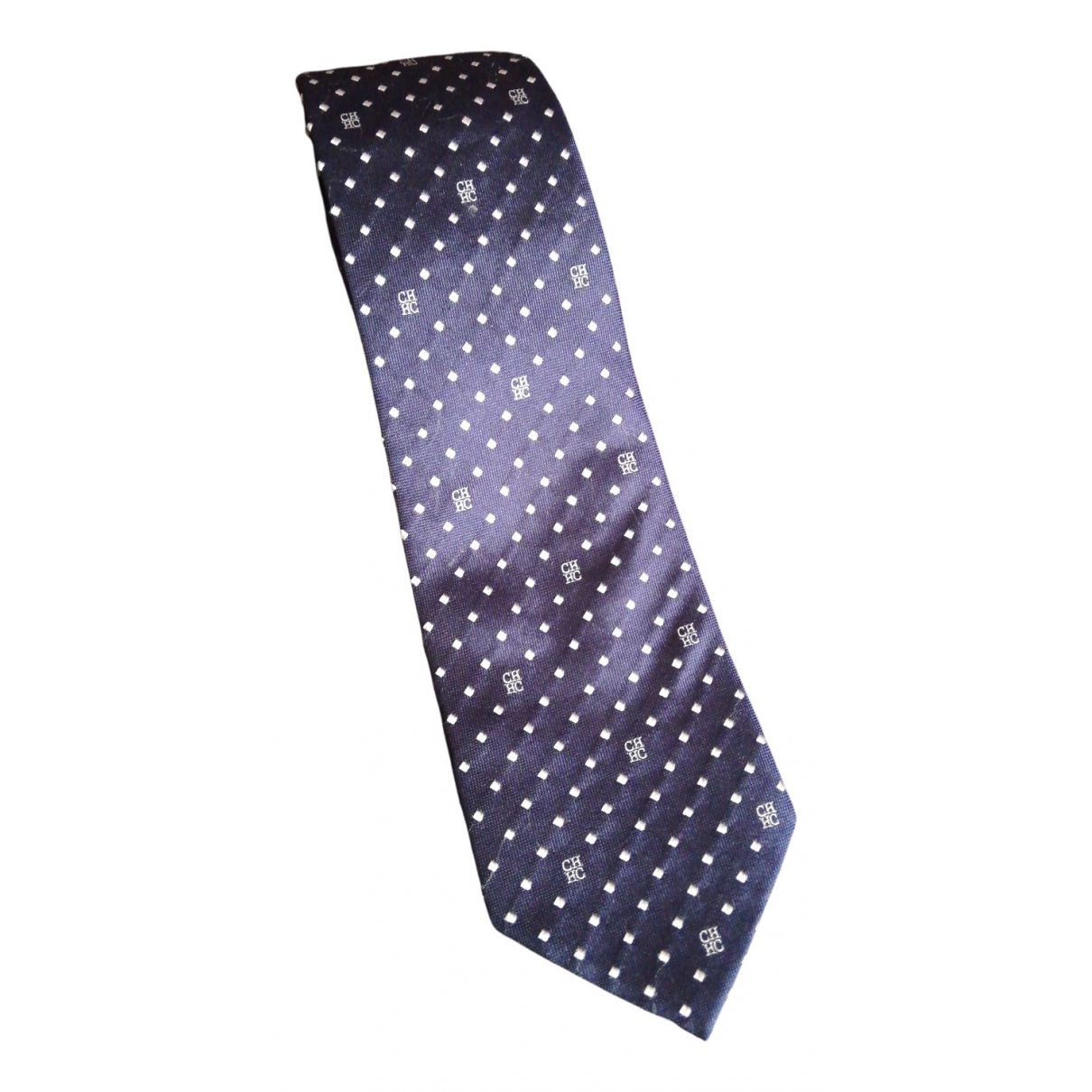 Carolina Herrera - Cravates   pour homme en soie - marine