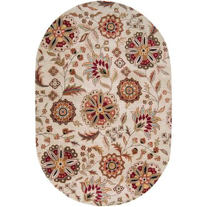 Athena Collection ATH5035-69OV Oval 6' x 9' Area Rug  Hand Tufted with Wool Material in Brown and Red