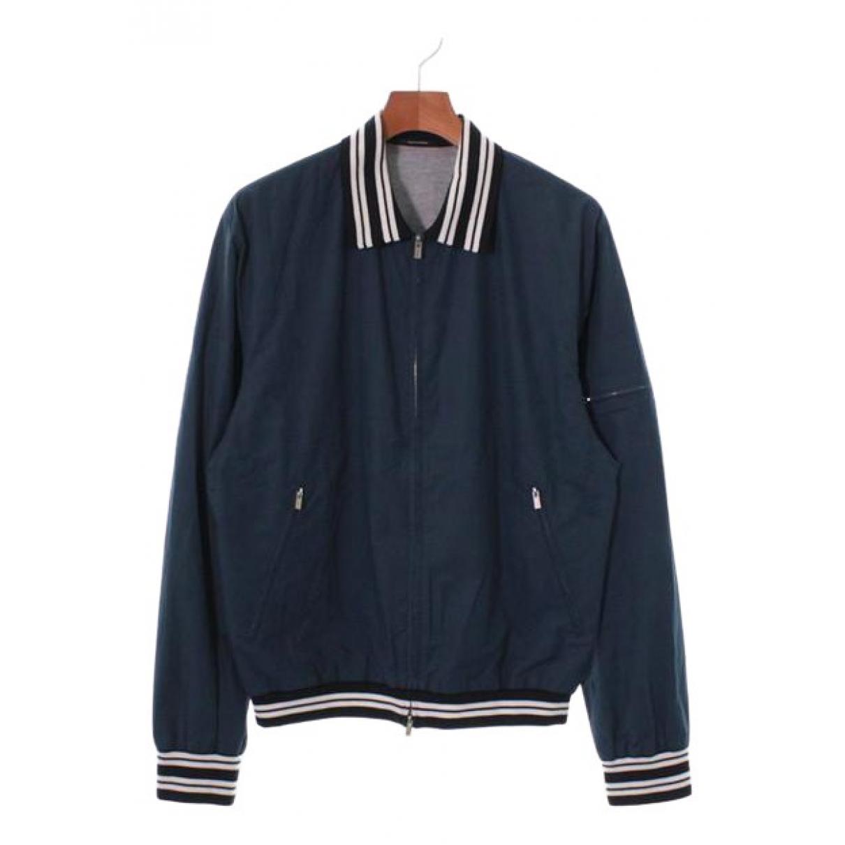 Hermès \N Navy Cotton jacket  for Men 48 FR