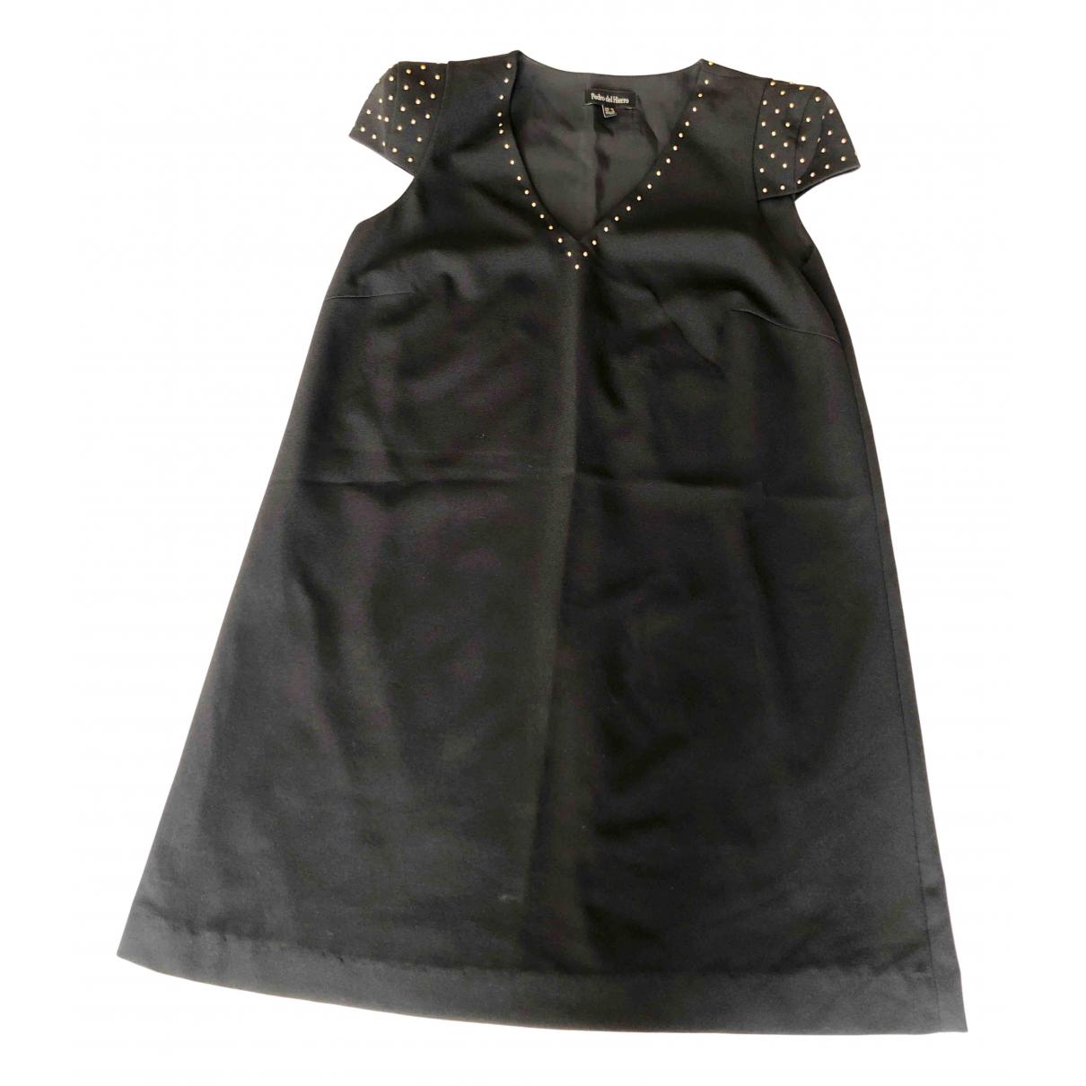 Pedro Del Hierro - Robe   pour femme en coton - noir