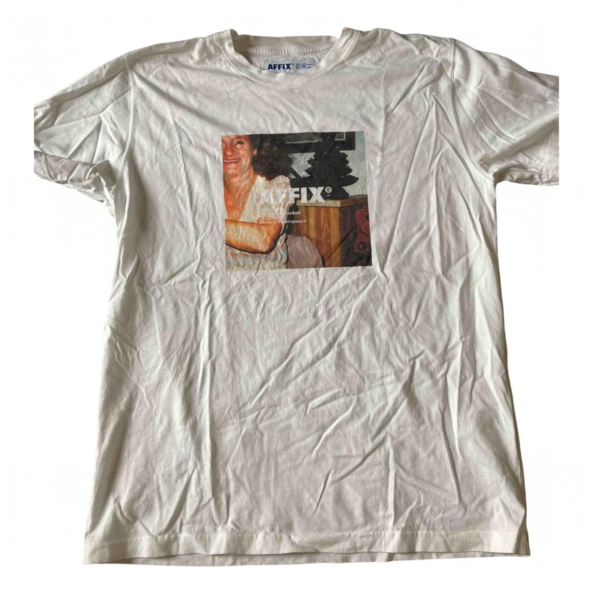 Affix - Tee shirts   pour homme en coton - blanc