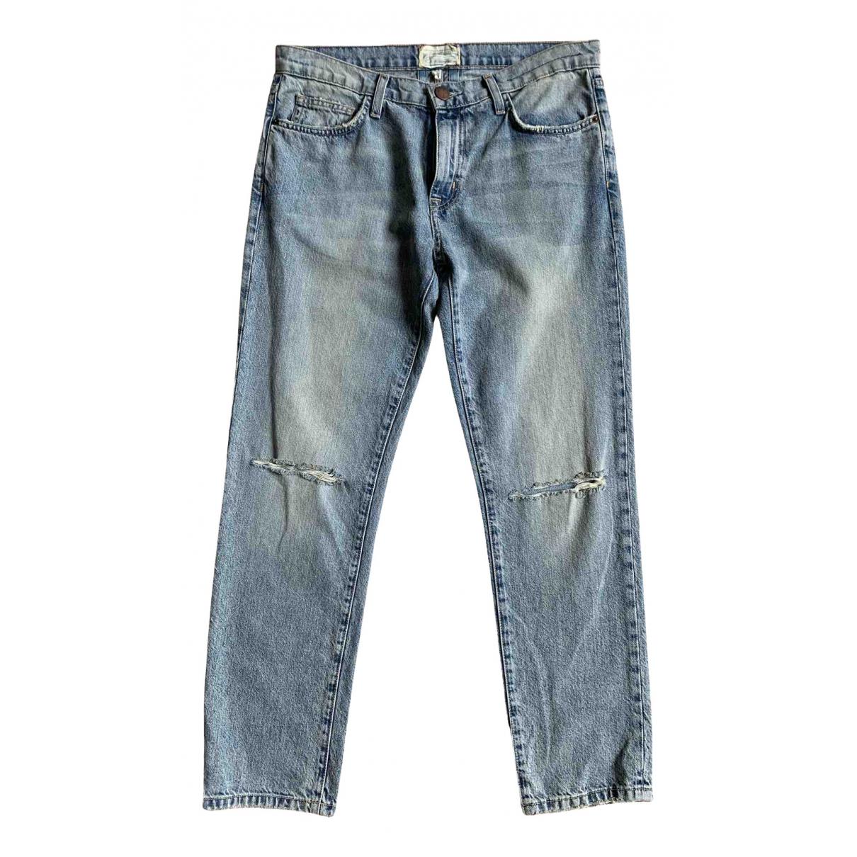 Current Elliott N Blue Cotton Jeans for Women 28 US