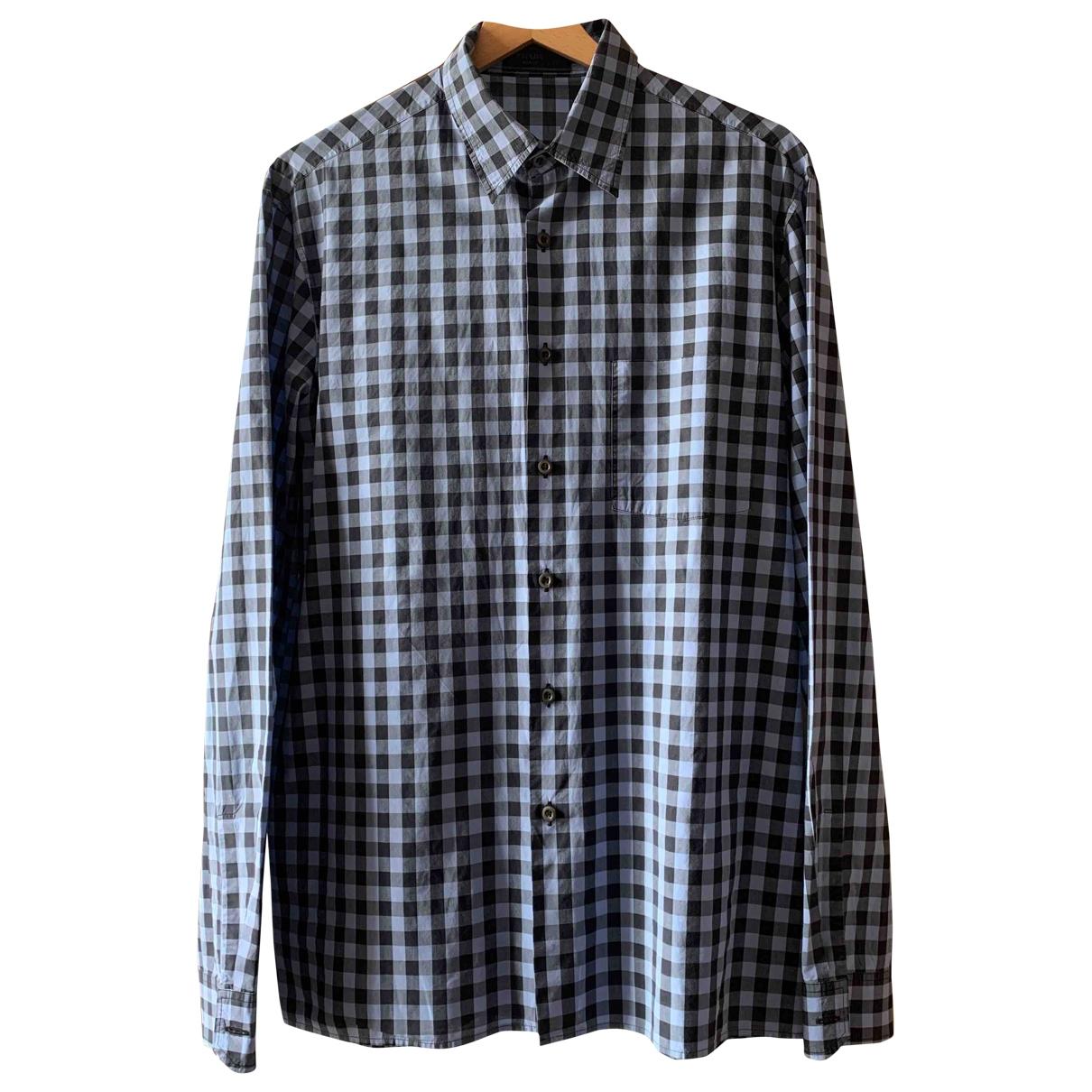 Prada - Chemises   pour homme en coton - bleu
