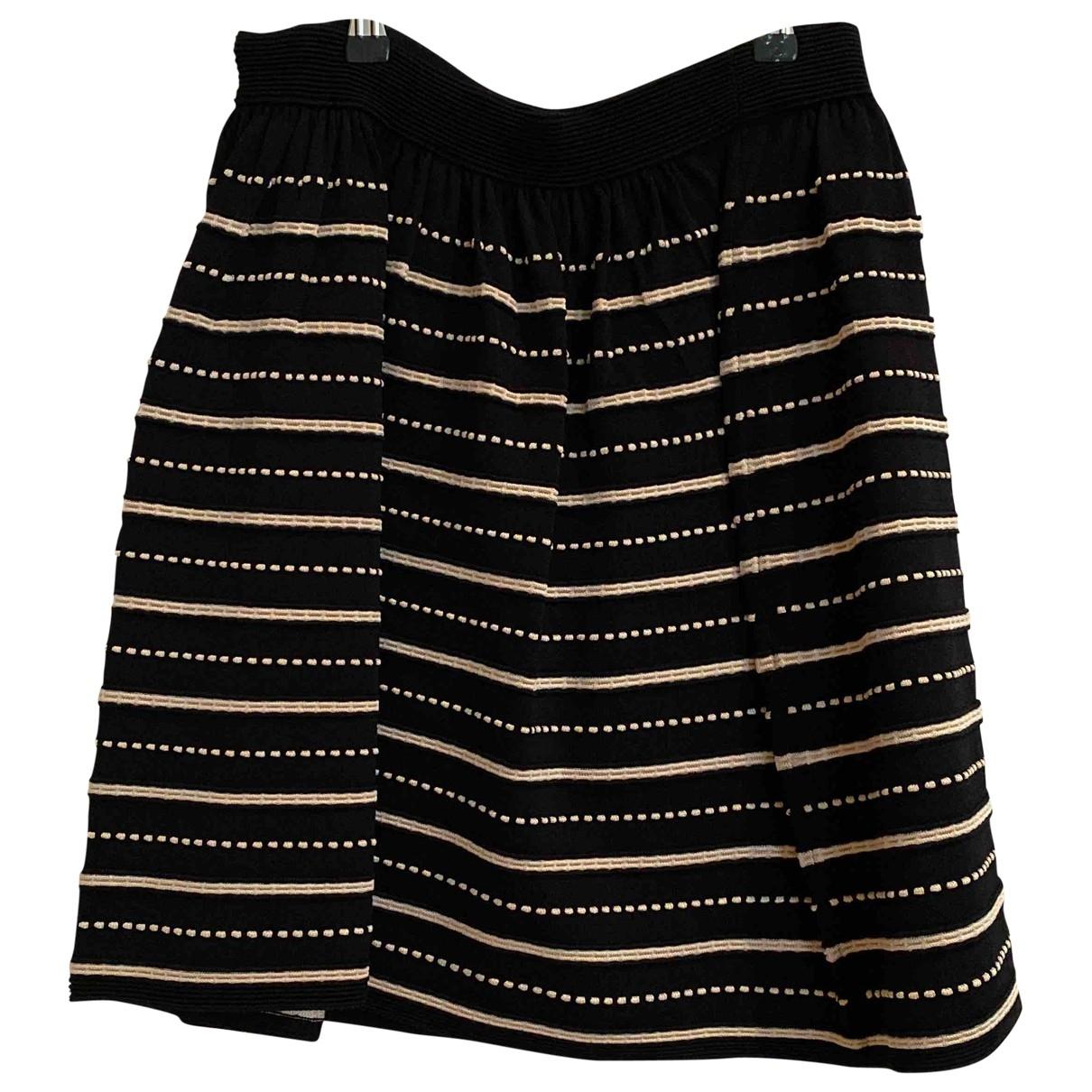 Sandro \N Black Cotton - elasthane skirt for Women 40 FR