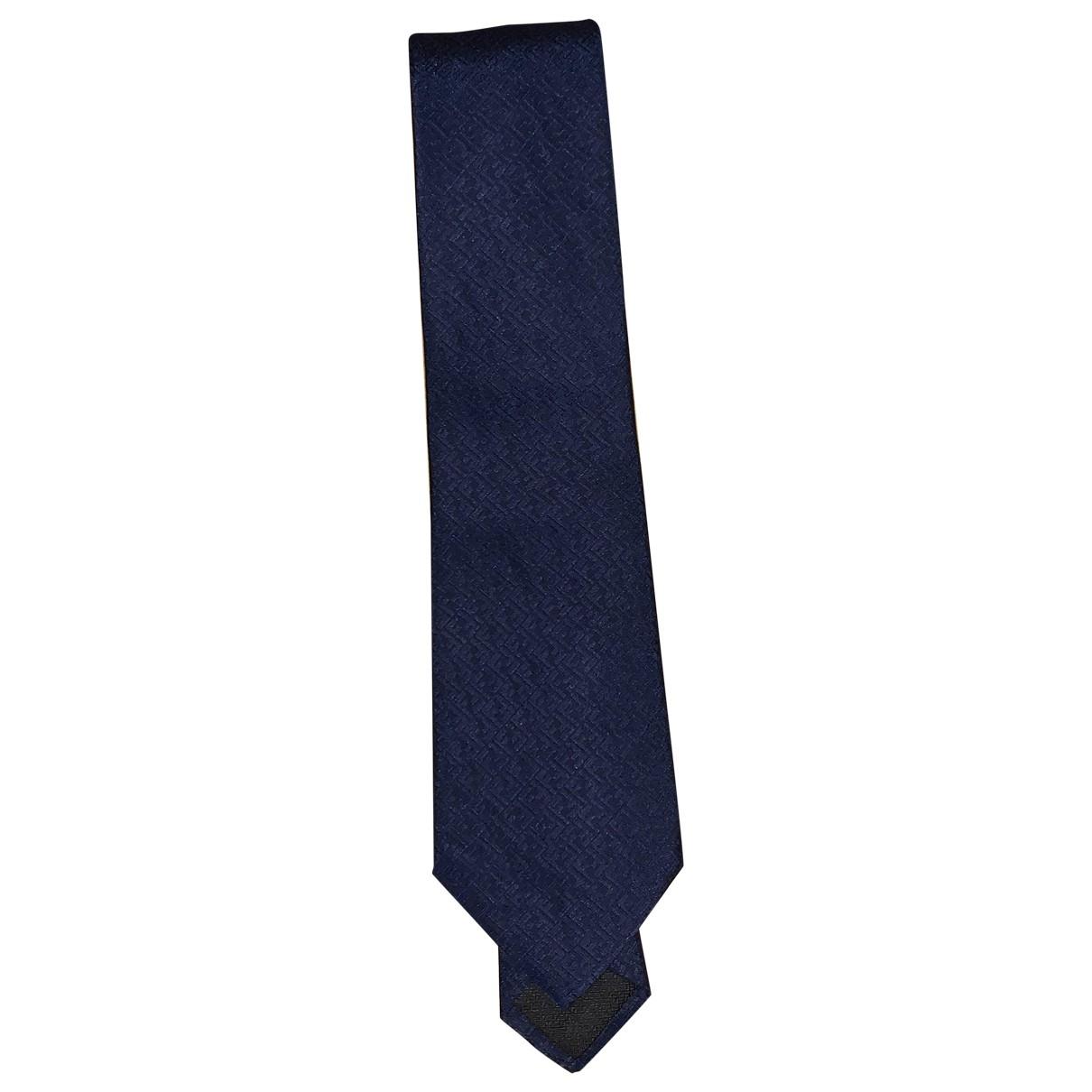 Fendi \N Krawatten in  Marine Kaschmir