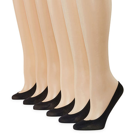 6-pk. Microfiber Liner Socks, 4-10 , No Color Family