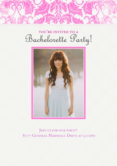 Party Invitations 5x7 Cards, Standard Cardstock 85lb, Card & Stationery -Botanical Bachelorette Party