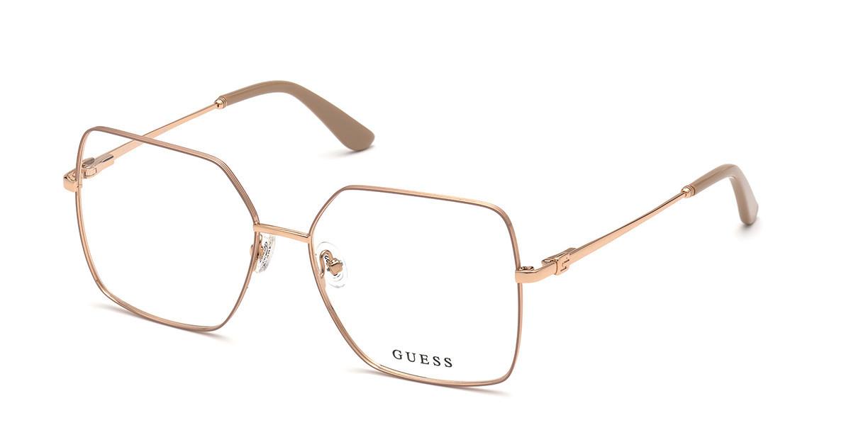 Guess GU 2824 059 Women's Glasses Gold Size 57 - Free Lenses - HSA/FSA Insurance - Blue Light Block Available
