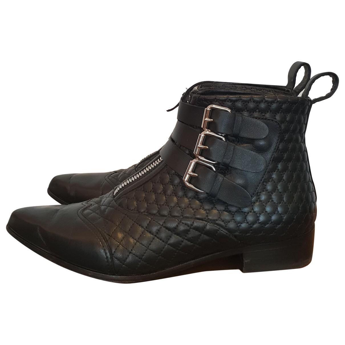 Tabitha Simmons - Boots   pour femme en cuir - noir