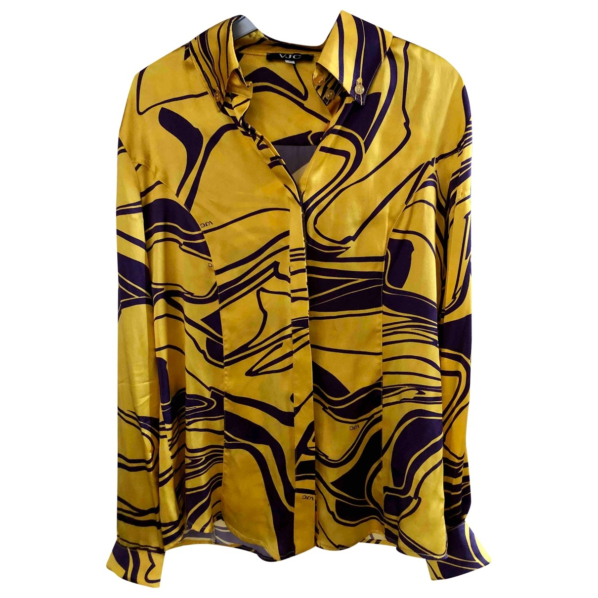 Versace Jeans \N Yellow Silk  top for Women 40 FR