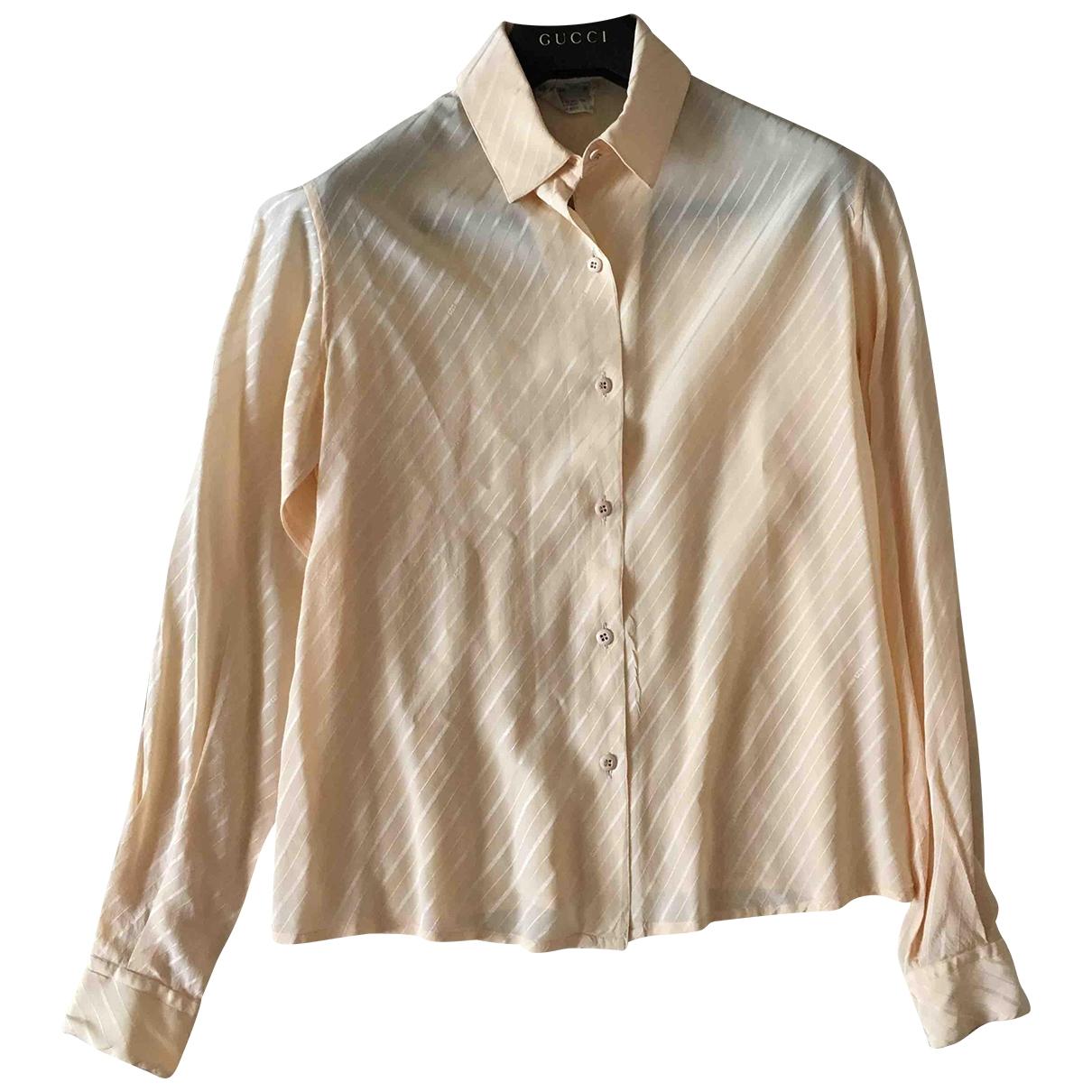 Salvatore Ferragamo - Top   pour femme en soie - beige