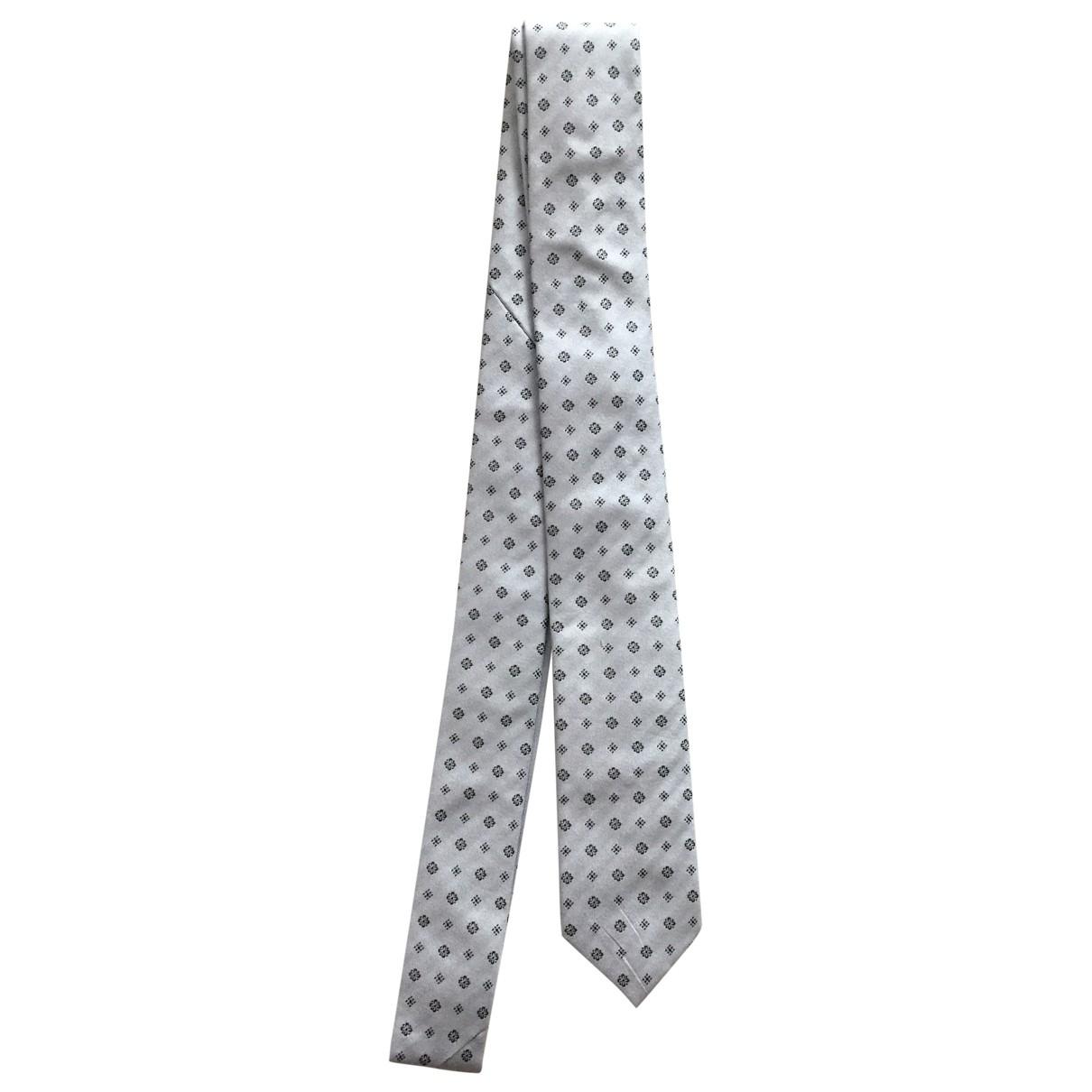 Les Hommes \N Krawatten in  Grau Seide