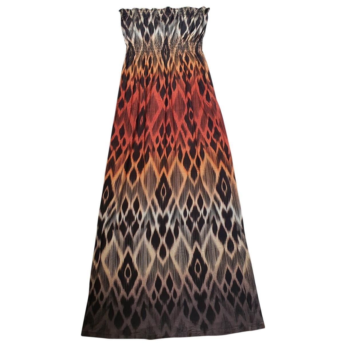 Non Signé / Unsigned Hippie Chic Multicolour Cotton dress for Women 16 UK