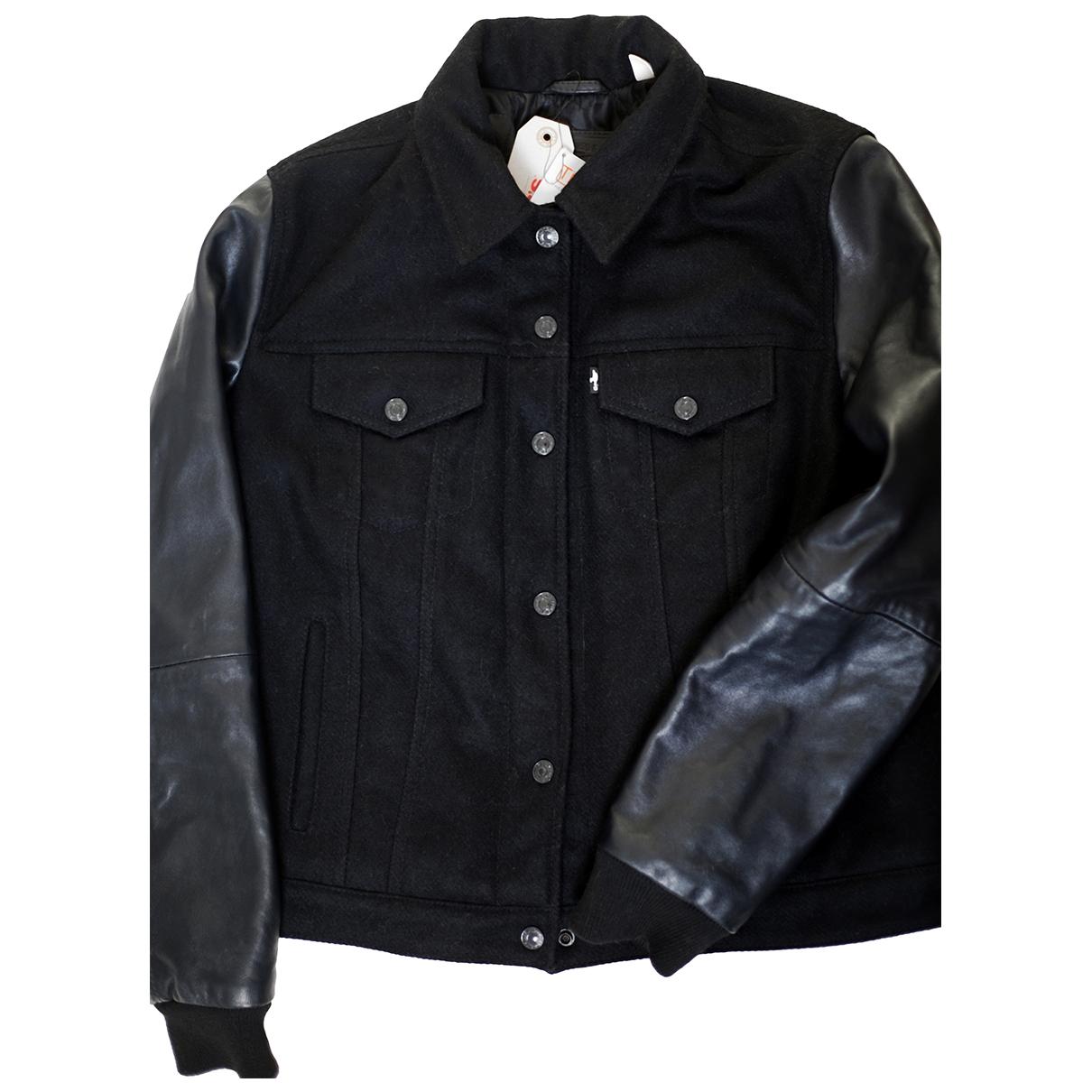 Levi's \N Black Wool jacket for Women 14 UK