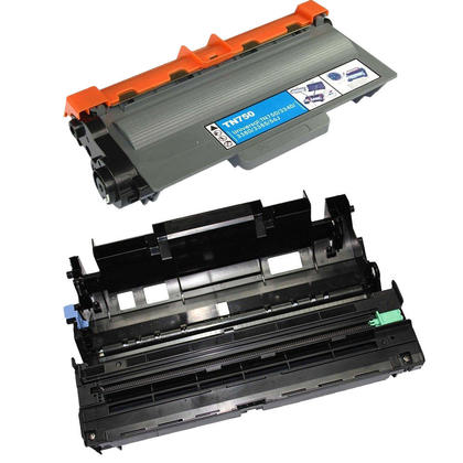 Compatible Brother TN750 DR720 Toner Cartridge and Drum Combo - Economical Box