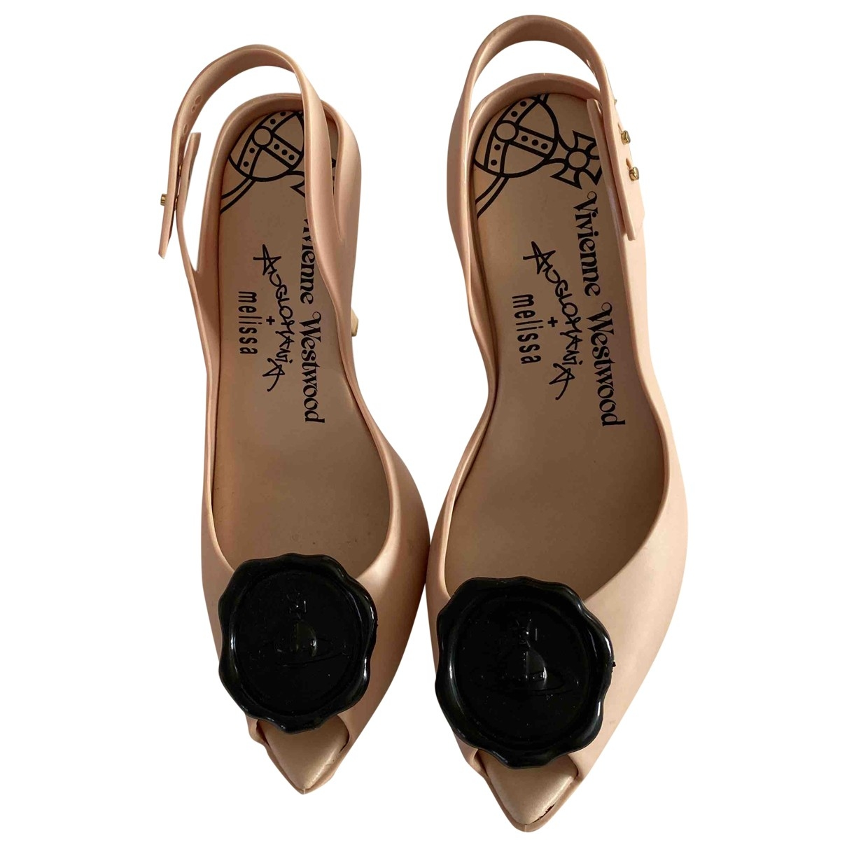 Vivienne Westwood Anglomania \N Beige Rubber Sandals for Women 37 EU