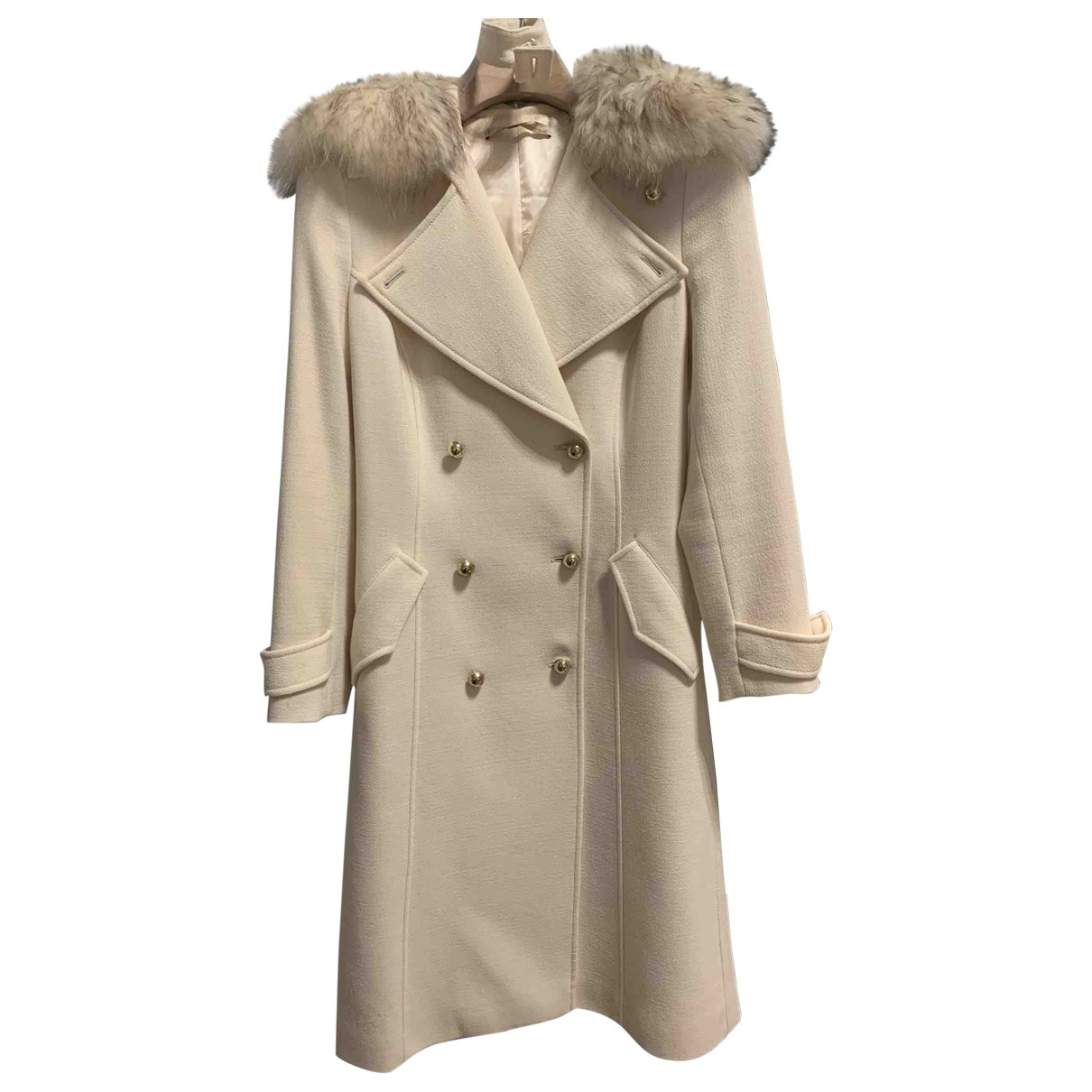 Roberto Cavalli \N Beige Wool coat for Women 42 IT