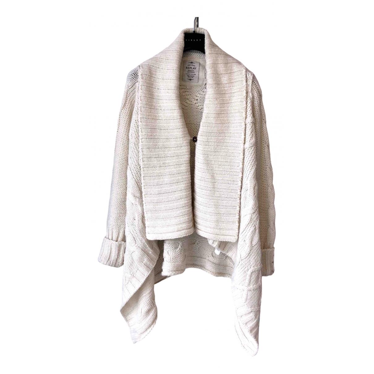 Replay - Veste   pour femme en laine - ecru