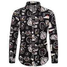 Shirt mit chinesischen Schriftzeichen Muster