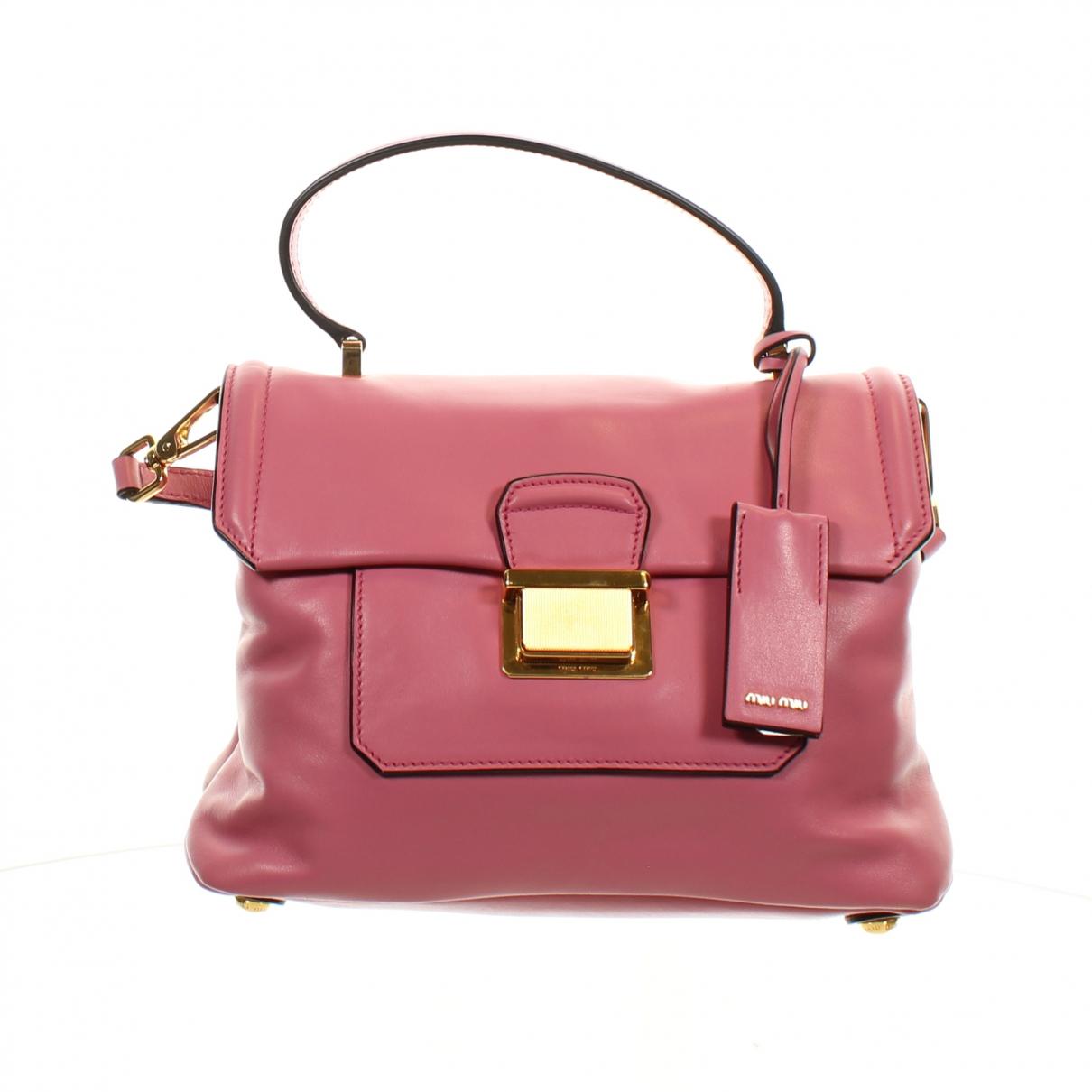Miu Miu Bow bag Clutch in  Rosa Leder