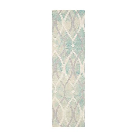 Safavieh Dip Dye Collection Harlan Geometric Runner Rug, One Size , Multiple Colors