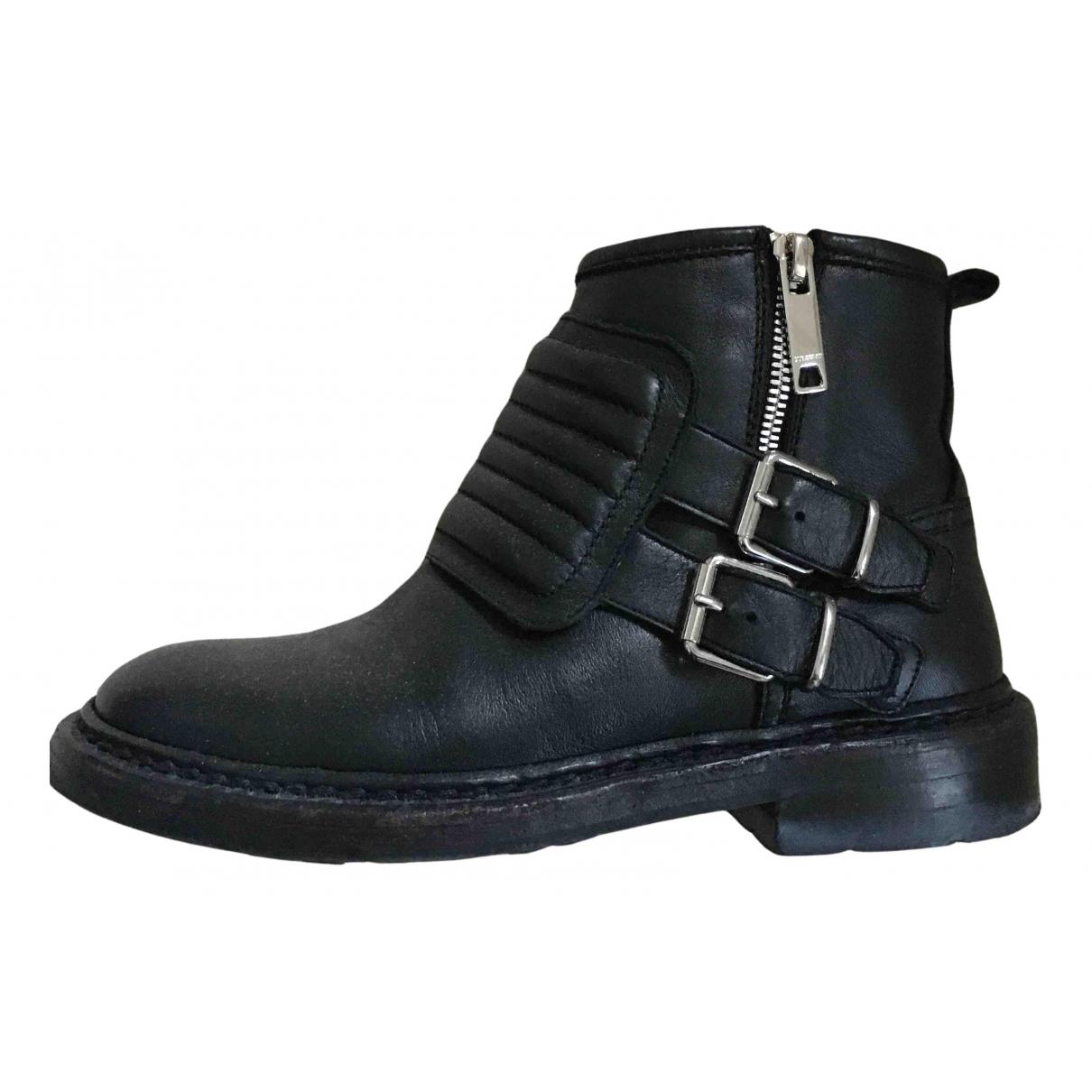 Burberry - Bottes   pour femme en cuir - noir