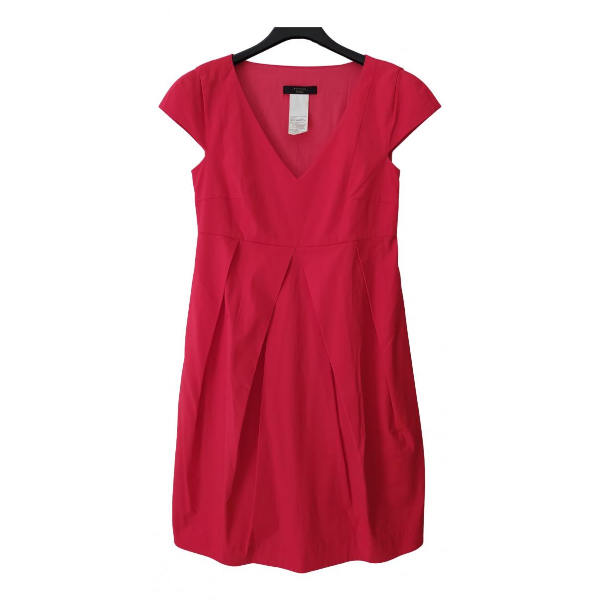 Max Mara Weekend \N Kleid in  Rot Baumwolle - Elasthan