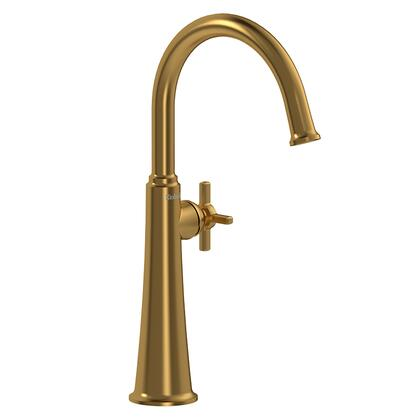 Momenti MMRDL01+BG-05 Single Hole Lavatory Faucet with + Cross Handle 0.5 GPM  in Brushed