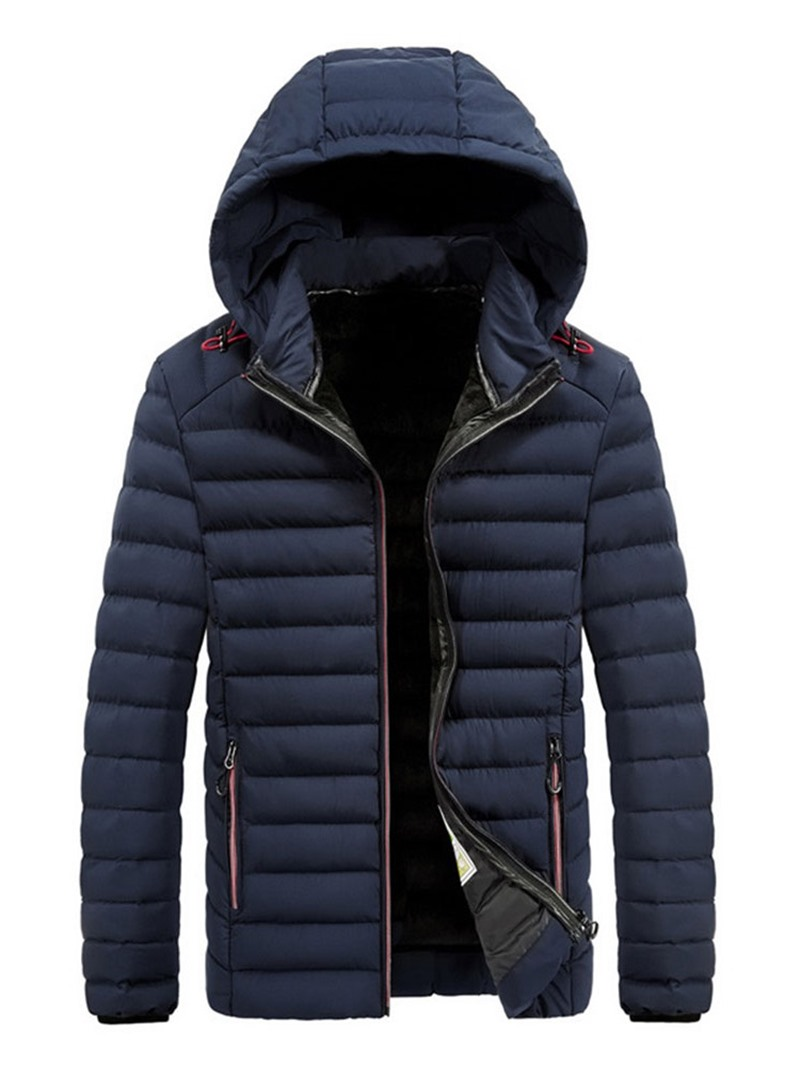 Ericdress Hooded Standard Casual Mens Down Jacket