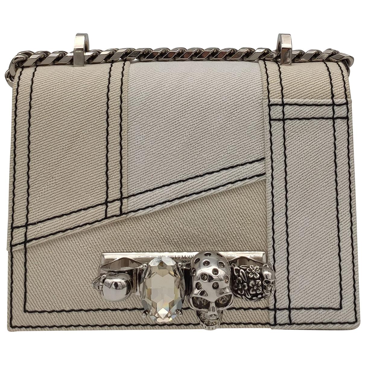 Alexander Mcqueen \N Handtasche in  Weiss Baumwolle