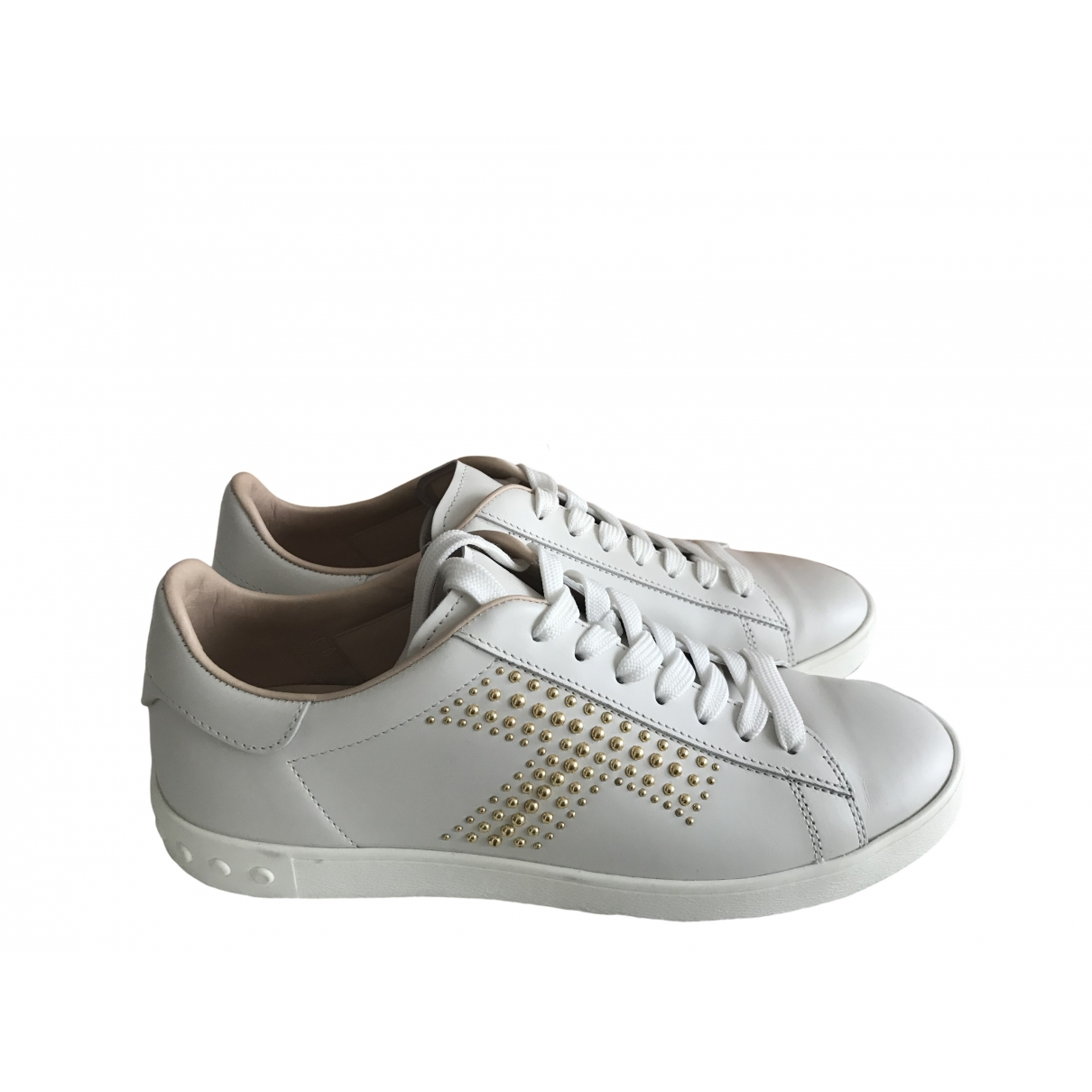 Tod's \N White Leather Trainers for Women 39.5 EU