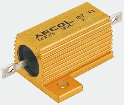 Arcol HS15 Series Aluminium Housed Axial Wire Wound Panel Mount Resistor, 470Ω ±5% 15W