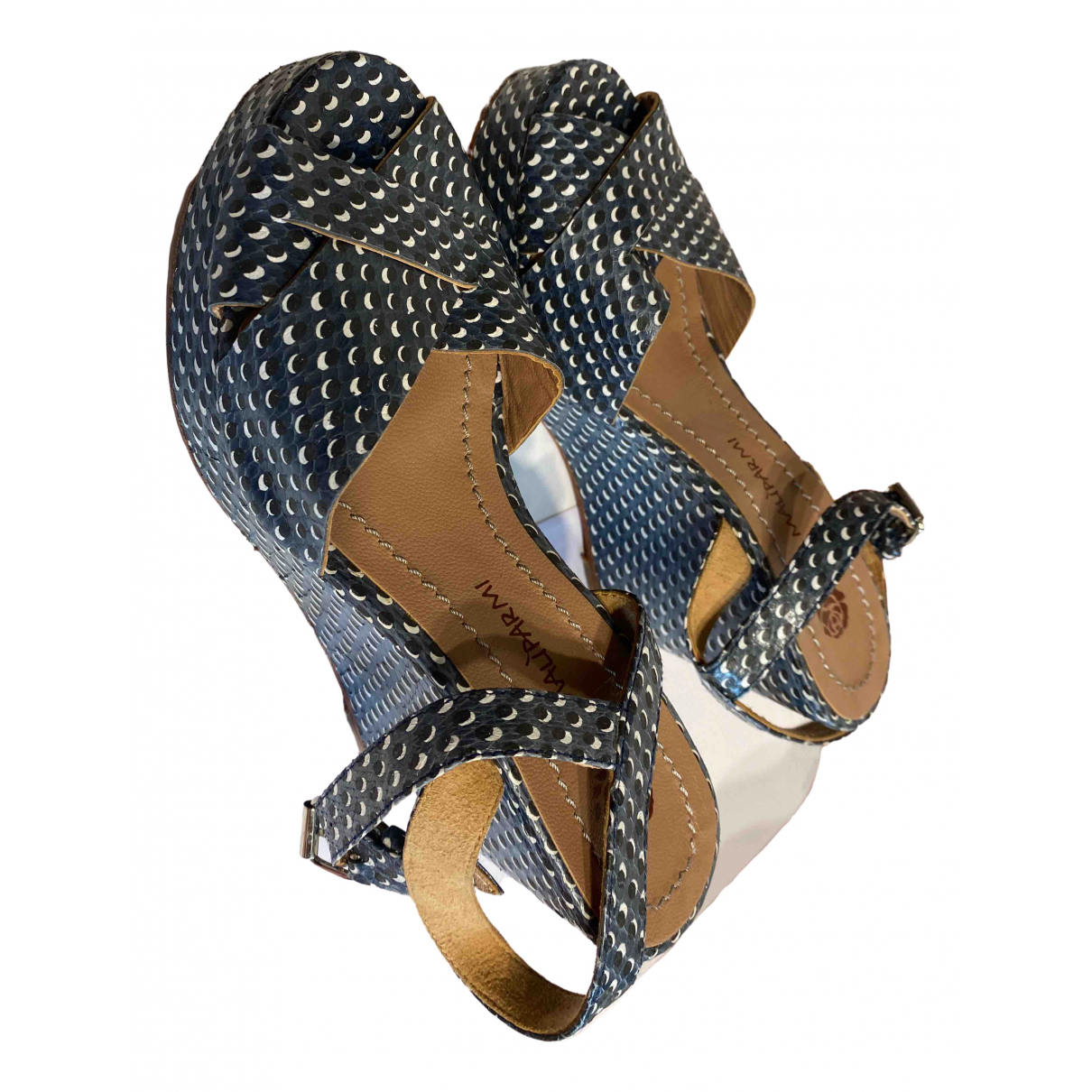 Maliparmi \N Blue Leather Sandals for Women 37 IT