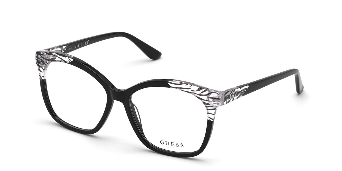 Guess GU 2820 001 Women's Glasses Black Size 55 - Free Lenses - HSA/FSA Insurance - Blue Light Block Available