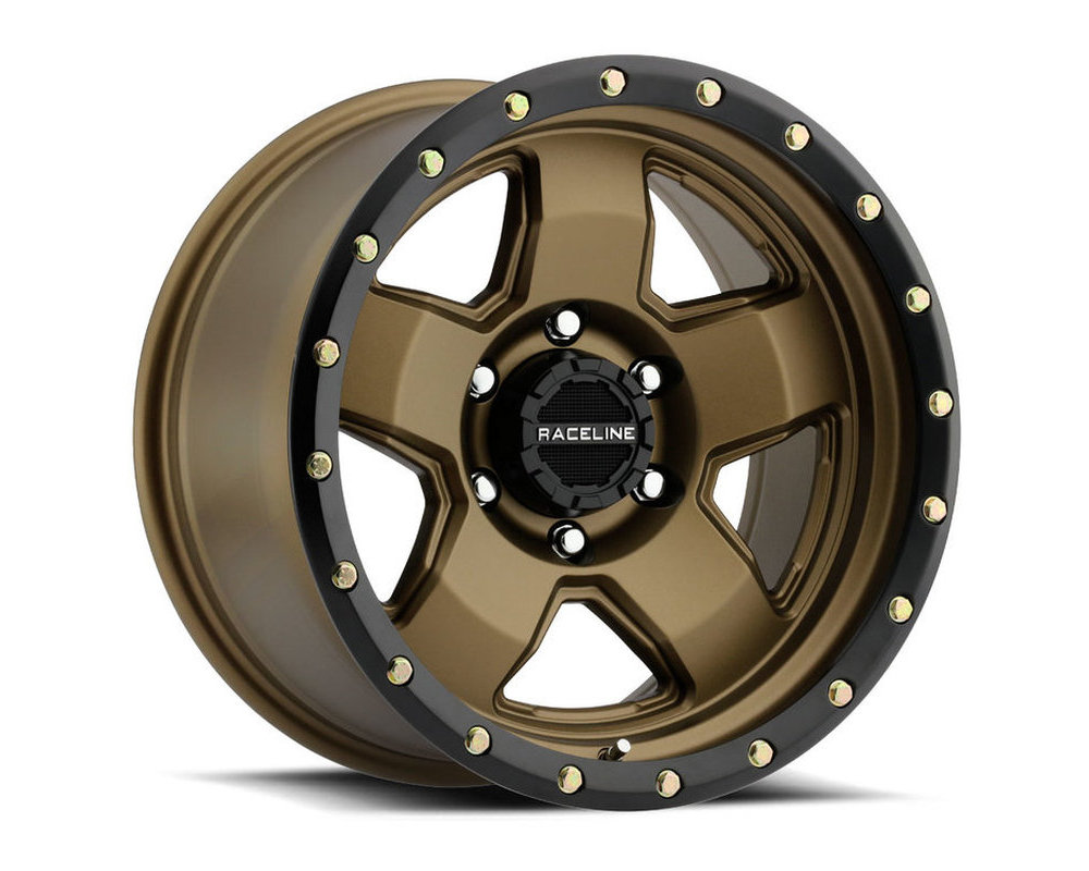 Raceline 937BZ Combat Bronze w/ Black Lip Wheel 17X9 6X139.7 0mm