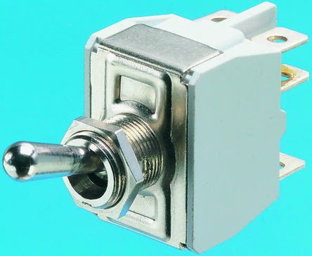 APEM DPST Toggle Switch, On-Off-(On), Panel Mount