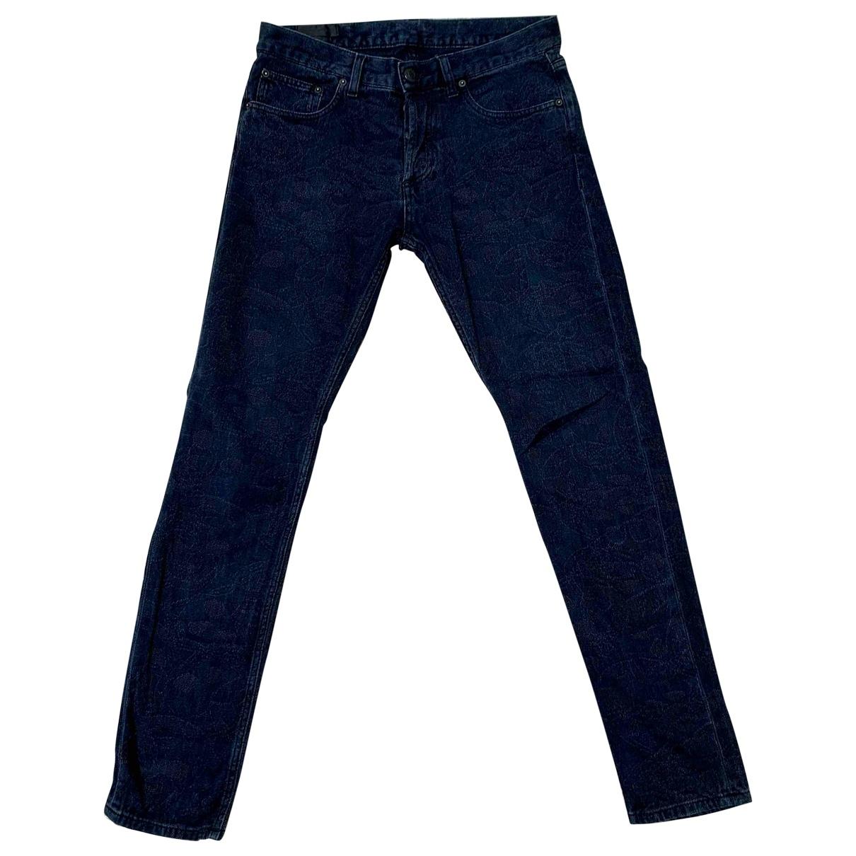 Alexander Mcqueen \N Navy Cotton Trousers for Men 30 UK - US