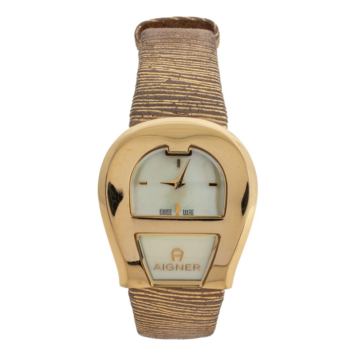 Aigner N Yellow gold watch for Women N