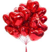 10 piezas globo en forma de corazon