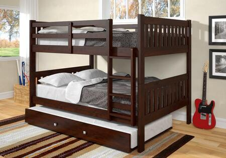 1015-3FFCP_503-CP Full/Full Mission Bunk Bed With Trundle Bed in Dark Cappuccino