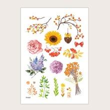 Floral Pattern Tattoo Sticker