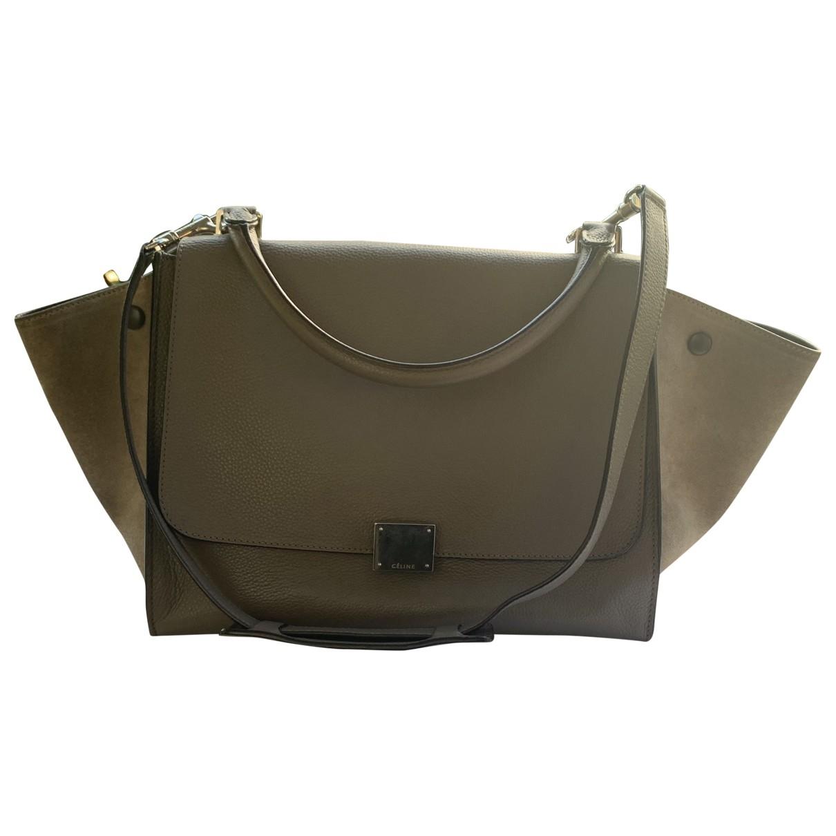 Celine Trapeze Handtasche in  Beige Leder