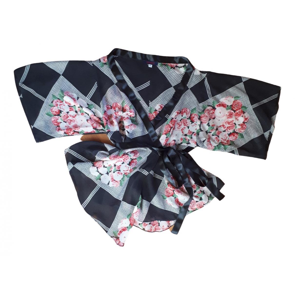 Kenzo - Top   pour femme en soie - noir