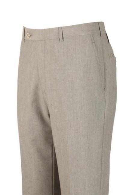 Super 110's Wool Harwick Clothing Dress Pants Light Gray