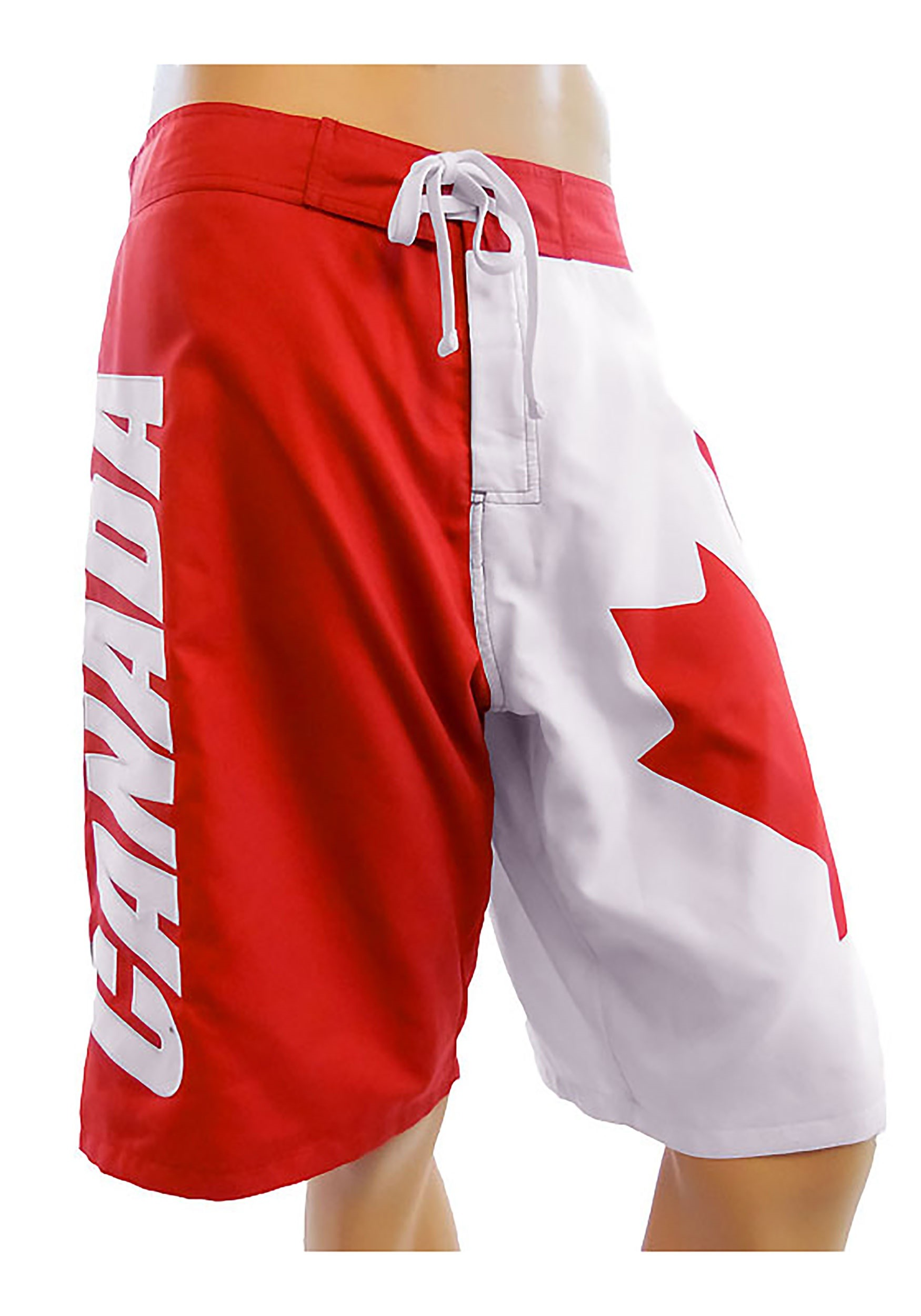 Mens Canadian Flag Swim Board Shorts