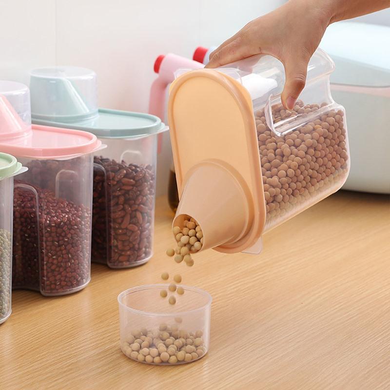 Ericdress Box Multigrain Storage Tank Transparent Sealed Cans