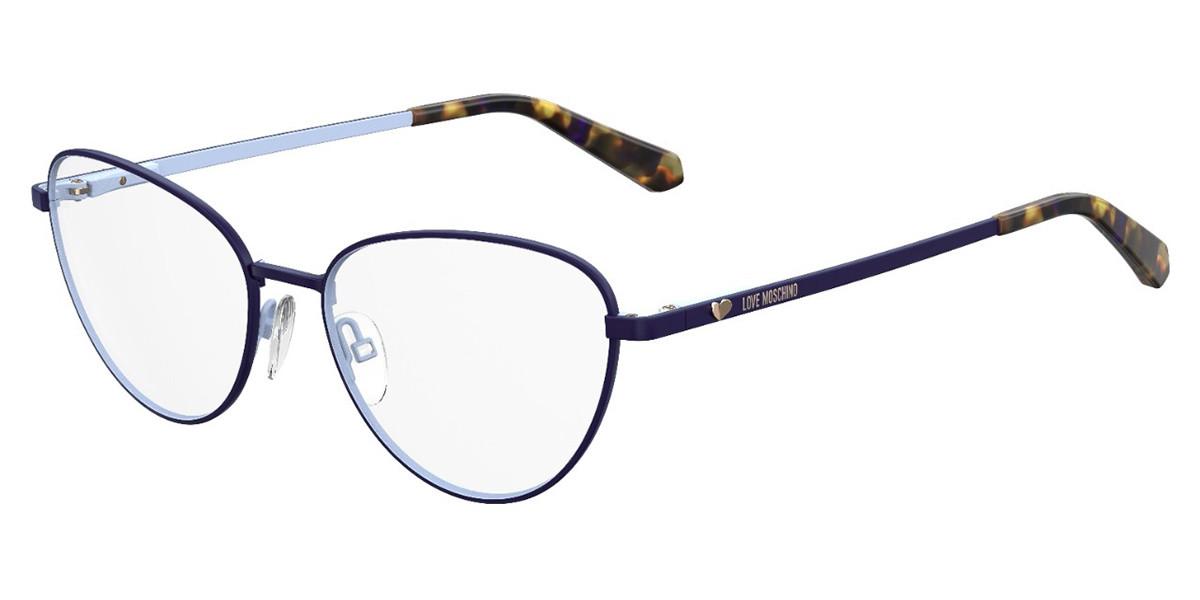 Moschino Love MOL551 PJP Women's Glasses Blue Size 53 - Free Lenses - HSA/FSA Insurance - Blue Light Block Available