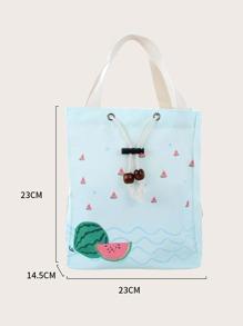 Watermelon Print Insulation Lunch Bag